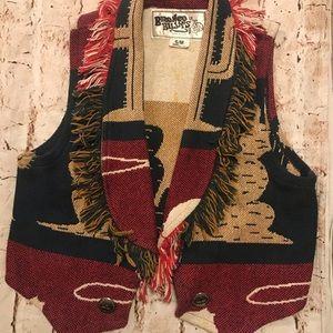 Retro Bronco Billy's Western Design Cactus Vest